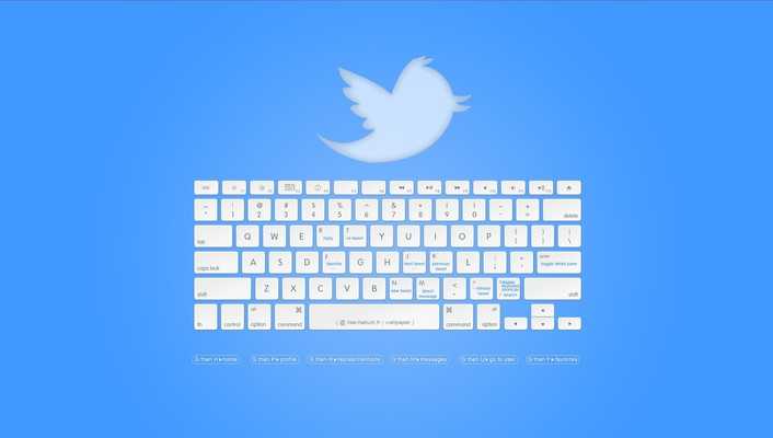 Minimalistic keyboards twitter hotkeys social media wallpaper