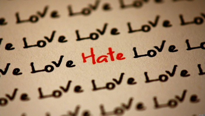 Hate love quotes text wallpaper