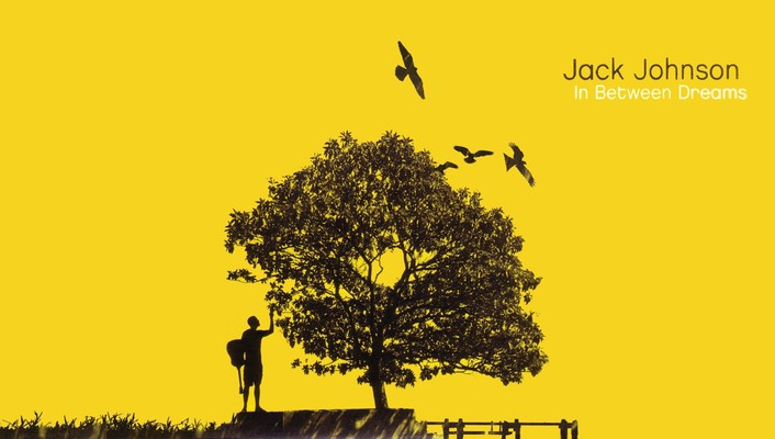Jack johnson digital art music trees yellow wallpaper