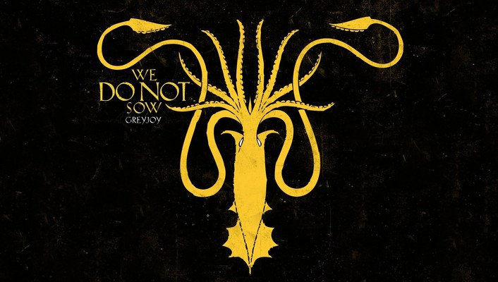 Game of thrones house greyjoy squid wallpaper