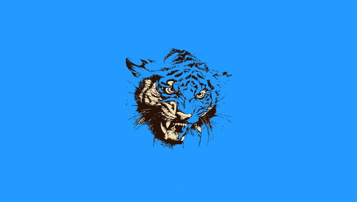 Abstract simple simplistic tigers wallpaper