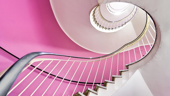 Indoors stairways wallpaper