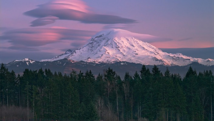 Mount rainier seattle forests landscapes mountains wallpaper
