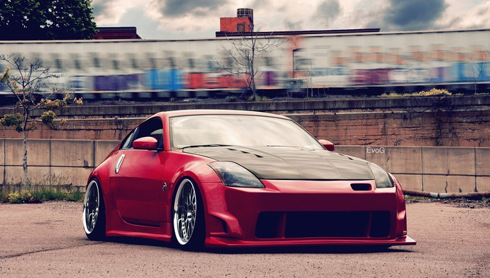 Cars nissan tuning red wallpaper