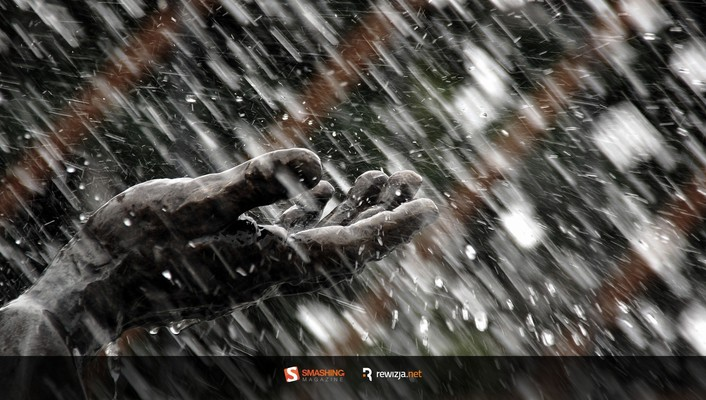 Smashing magazine hands rain statues wallpaper