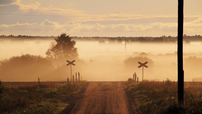 Fog land landscapes nature signs wallpaper