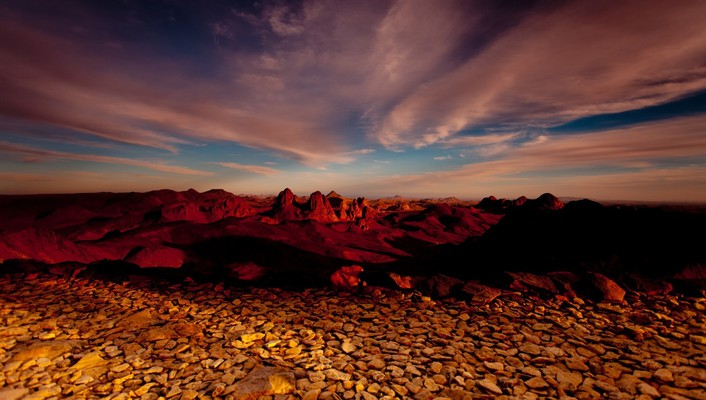 Deserts landscapes stones sunset wallpaper