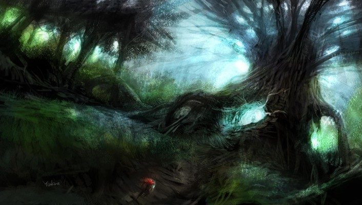 Chaos online artwork fantasy art forests trees wallpaper
