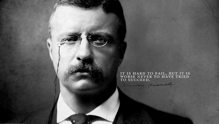 Theodore roosevelt faces grayscale quotes text wallpaper