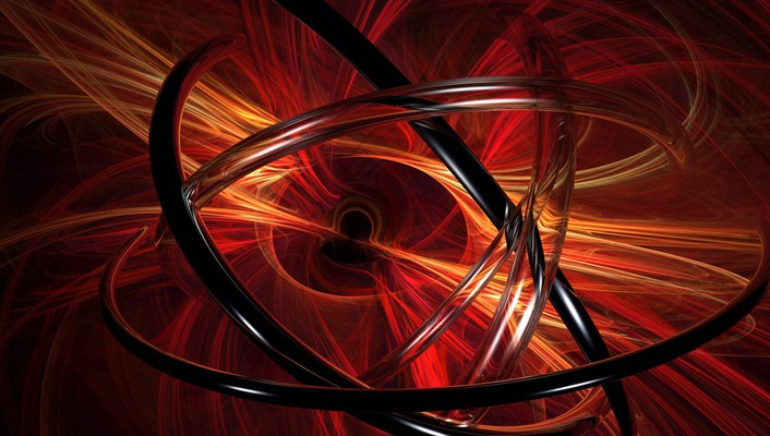 Abstract red 3d render wallpaper