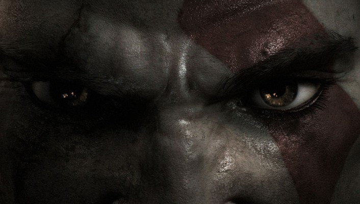 God of war kratos eyes wallpaper