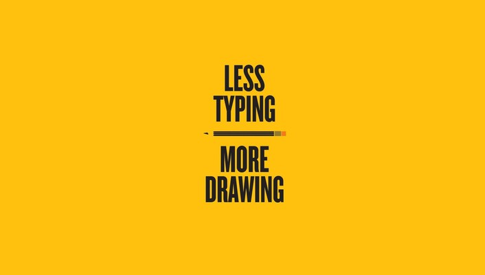 Typing drawings pencils text typography wallpaper
