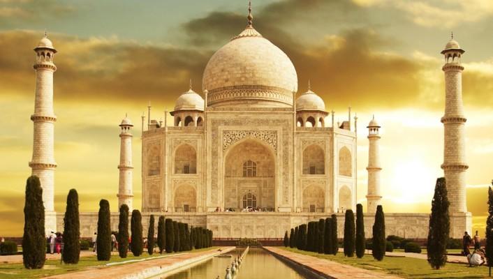India taj mahal memorial oriental wallpaper