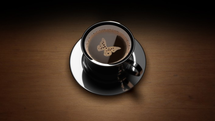Black brown butterflies coffee wallpaper
