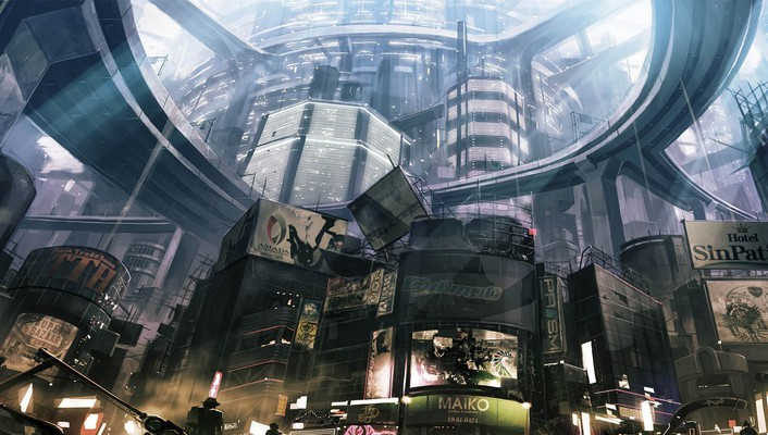 Binary domain artwork cityscapes streets video games wallpaper