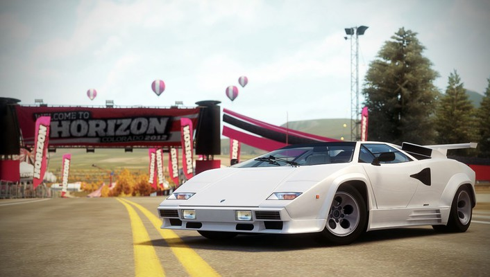 Video games lamborghini countach forza horizon 1988 wallpaper