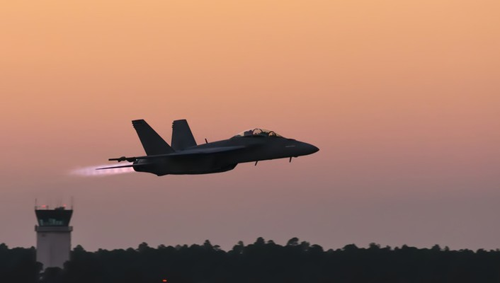 Sunset fighter jets wallpaper
