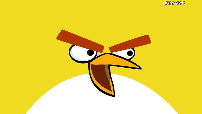Angry birds abstract minimalistic wallpaper