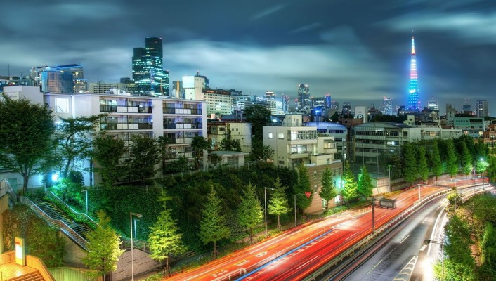 Japan tokyo cityscapes night wallpaper