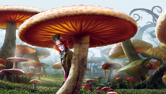 Alice in wonderland johnny depp mad hatter wallpaper