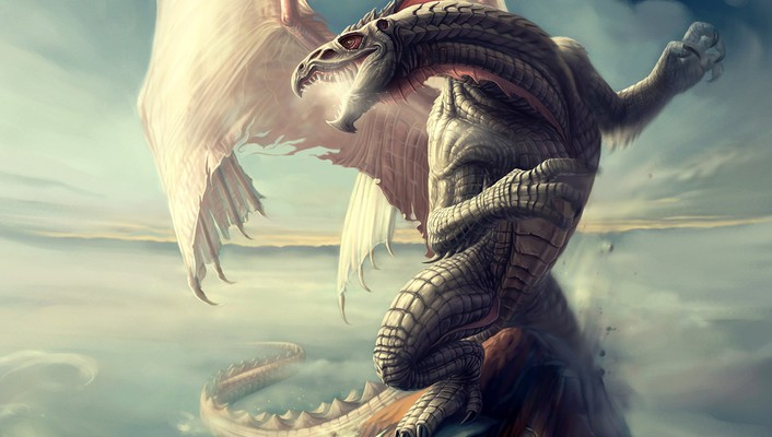 Abstract artwork dragons fantasy art wings wallpaper