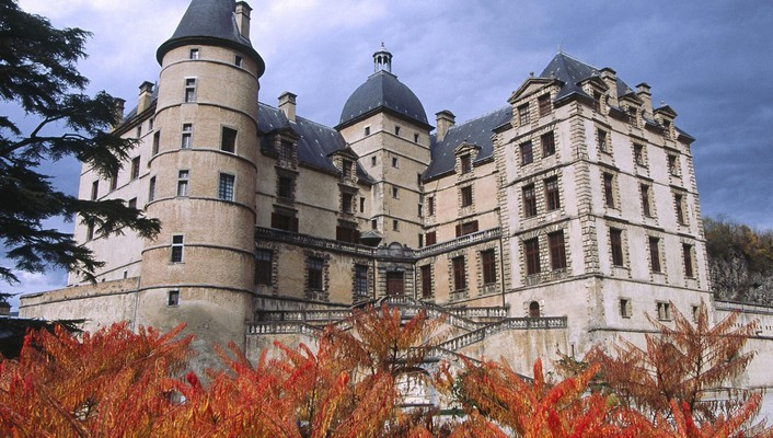 Castles france buildings cities chateau wallpaper