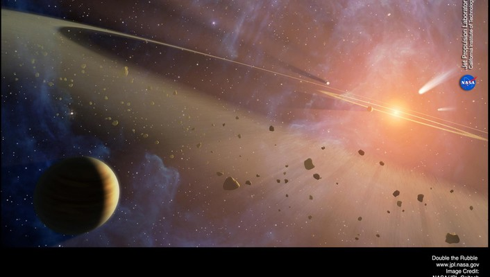 Outer space rubble science fiction wallpaper