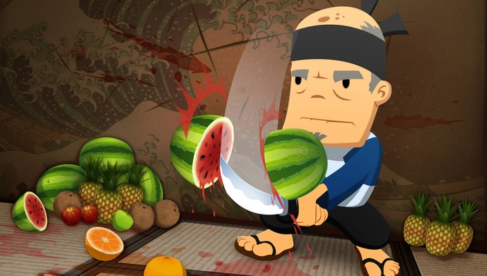 Fruit ninja fruits ninjas video games wallpaper
