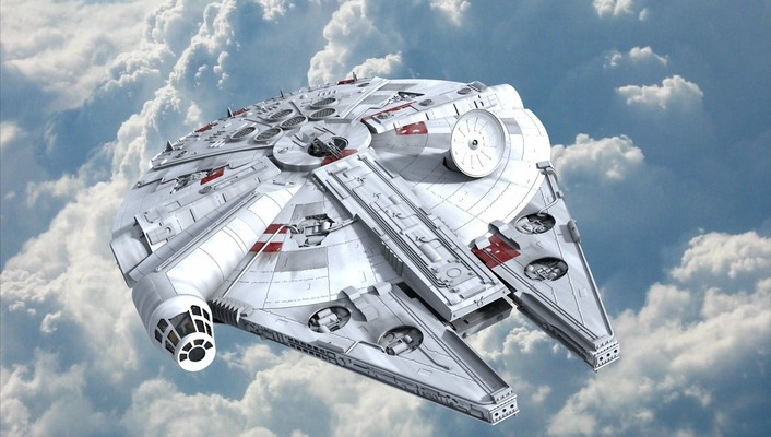 Millennium falcon star wars artwork science fiction spaceships wallpaper