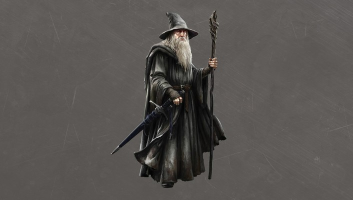Hobbit concept art simple background gandalf grey wallpaper