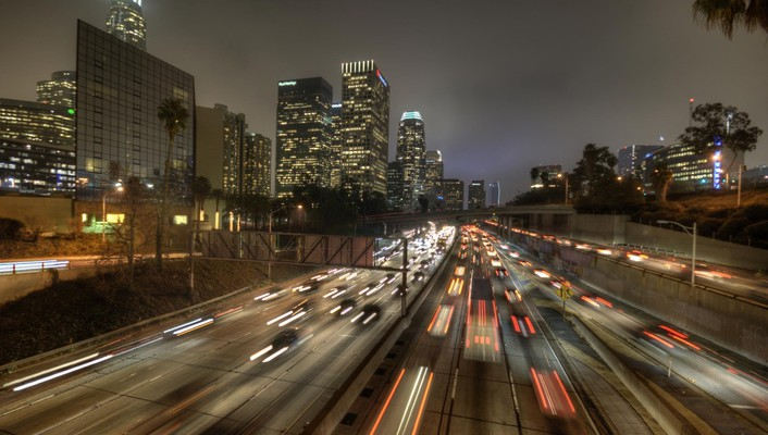 Los angeles highways widescreen wallpaper