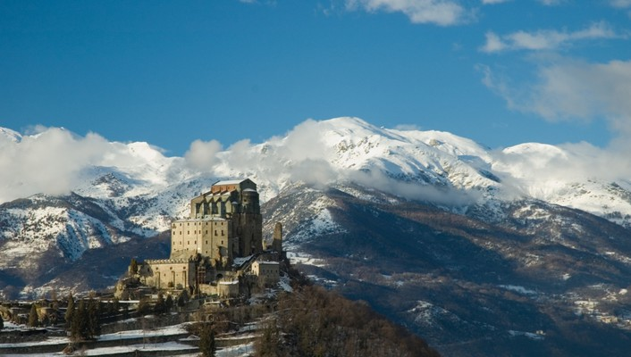 Italia italy sacra di san michele architecture landscapes wallpaper
