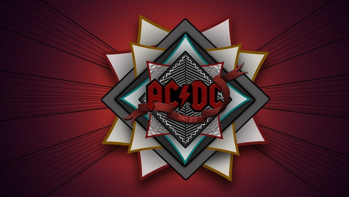 Ac/dc rock band digital art hard logos wallpaper