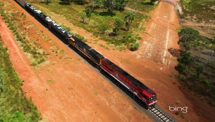 Bing the ghan landscapes trains wallpaper