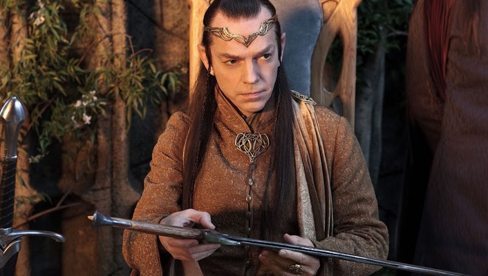 The hobbit hugo weaving elrond wallpaper