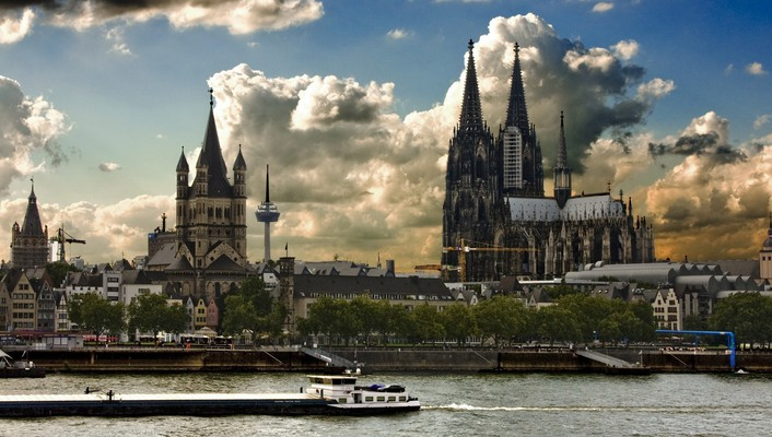 Cologne cathedral germany cityscapes landscapes towns wallpaper