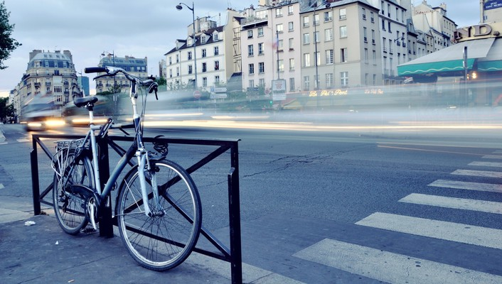 Bicycles cityscapes land roads wallpaper