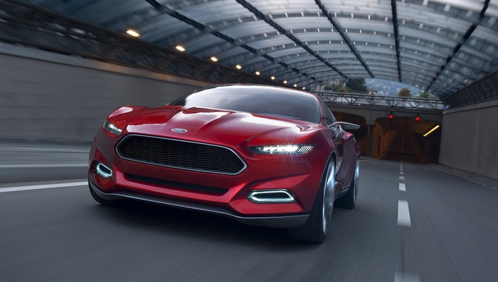 Ford evos concept cars art red wallpaper