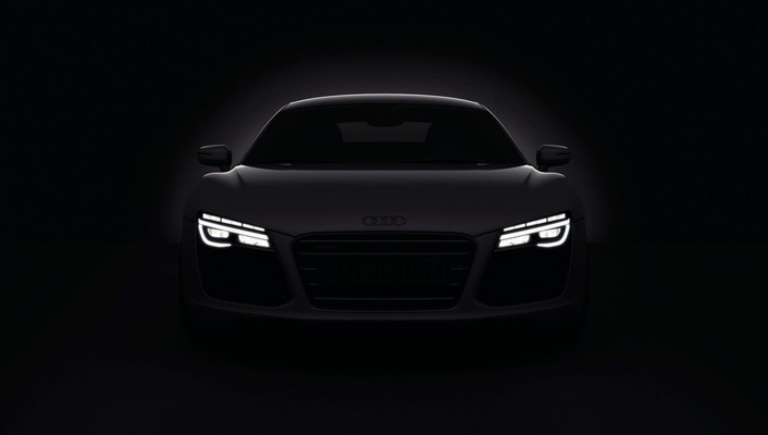 Dark cars audi r8 headlights 2013 wallpaper