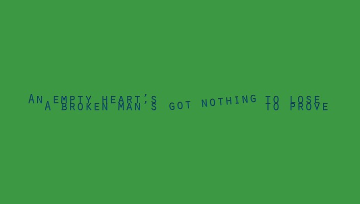 Green hearts poetry sentence lifestyle wallpaper