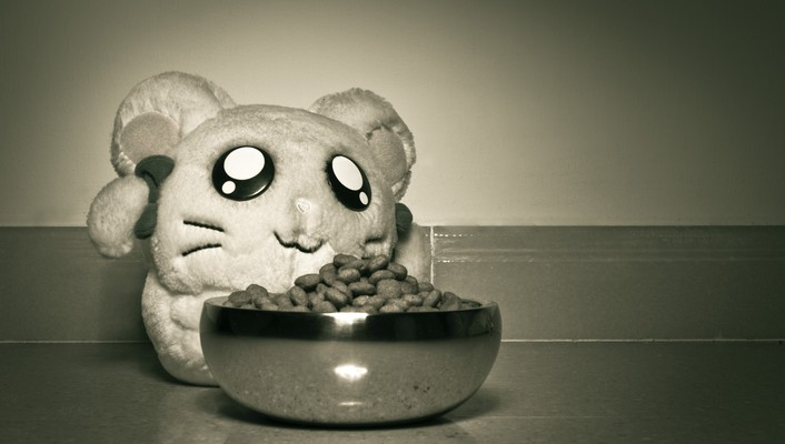 Food grayscale objects toys children wallpaper