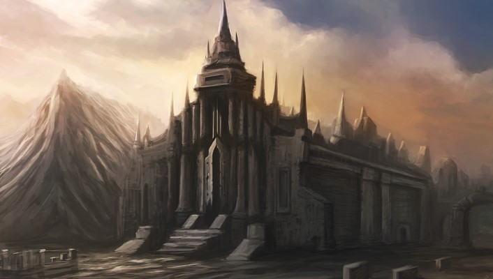 Fantasy art church artwork christian quinot wallpaper