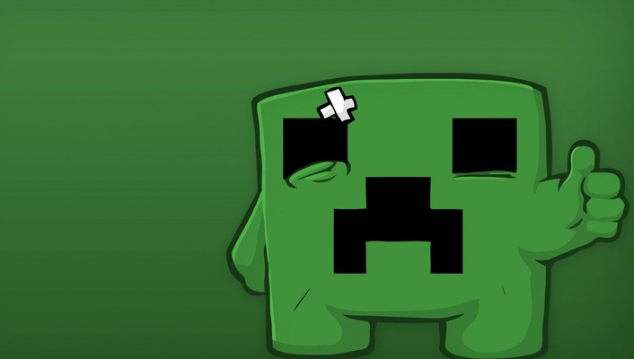 Minecraft super meat boy creeper minimalistic video games wallpaper