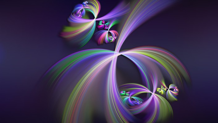 Swirls whirls of colours wallpaper