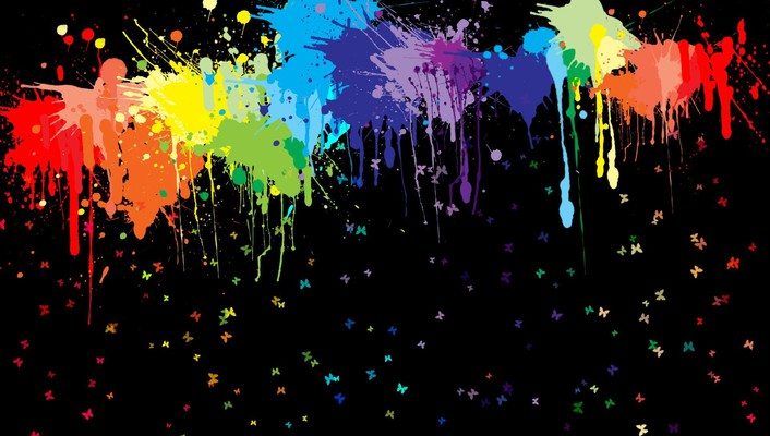 Spattered paints wallpaper