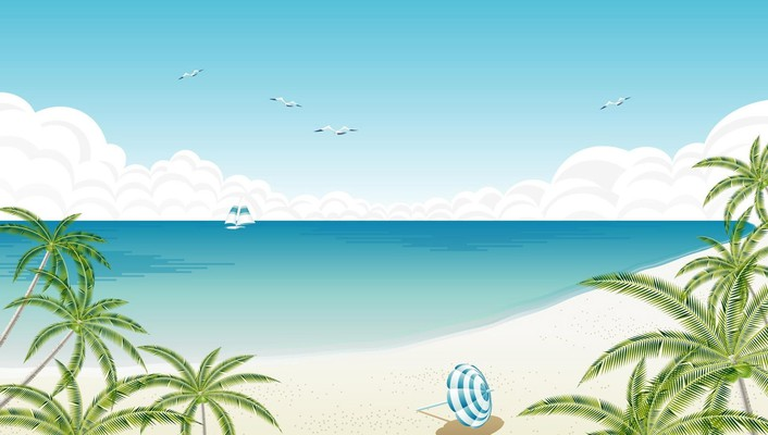 Alone at the beach wallpaper