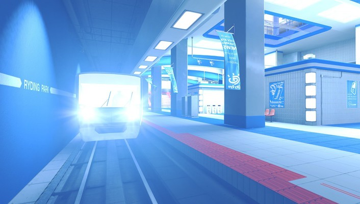Mirrors edge trains wallpaper