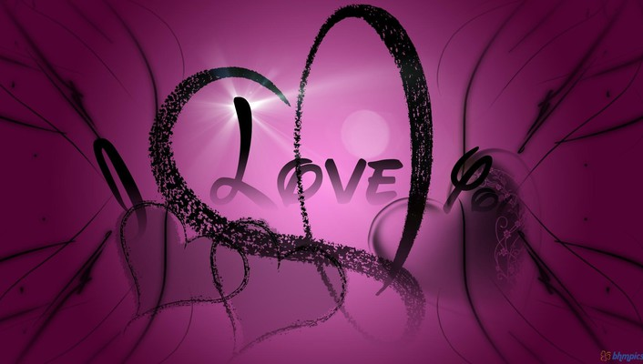 I love you in purple wallpaper