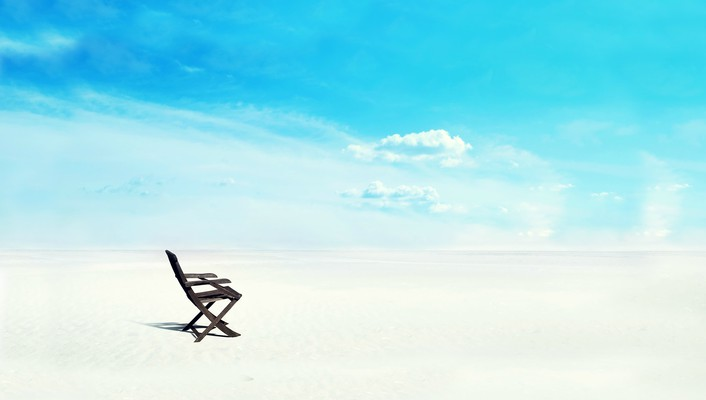 White sands chair wallpaper