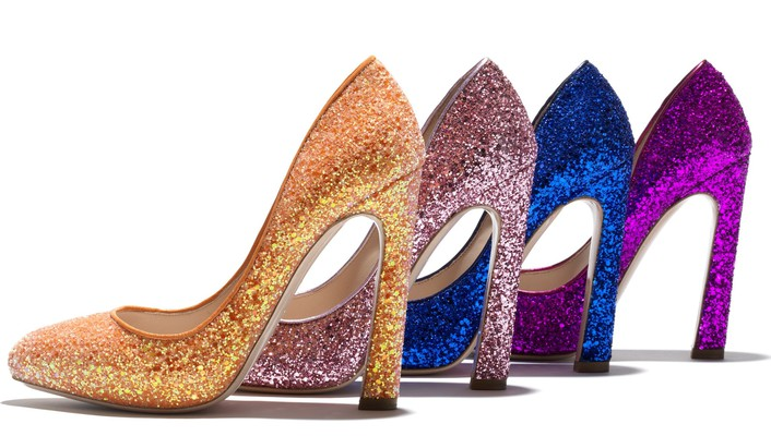 Glitter shoes wallpaper